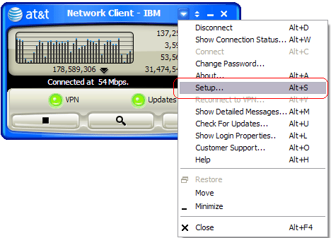 Tip: Configuring the AT&T Network Client VPN Client with