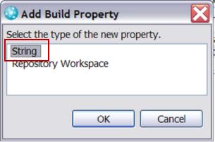 Build Property chooser