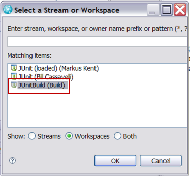 Adding Junit workspace assigned to build user
