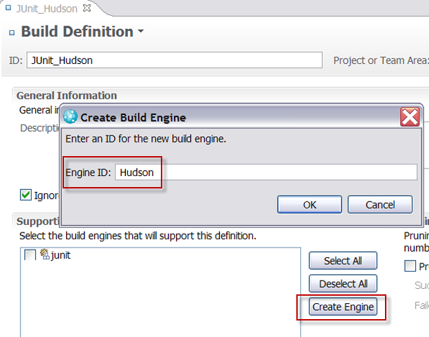 Creating the build engine from the build definition