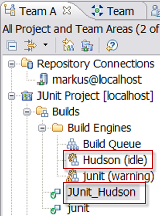 Build definition and engine the Team Artifacts view