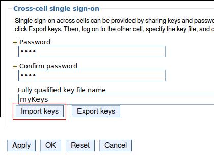 Import LTPA Keys