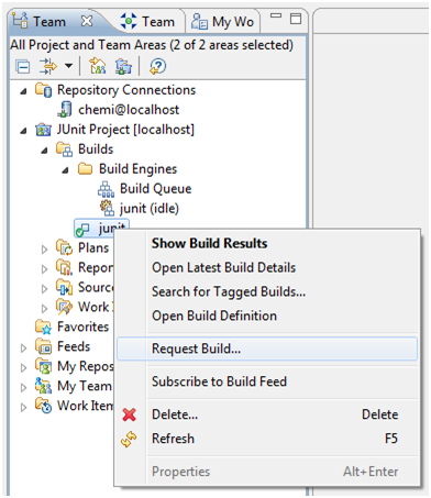 Figure 12.- Requesting a build execution manually