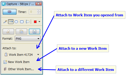 Attach Capture to Work Item