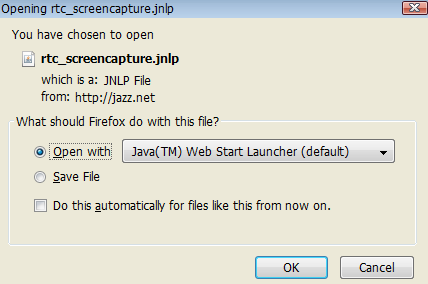 Browser Dialog to open Capture Utility