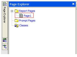 Page Explorer tab