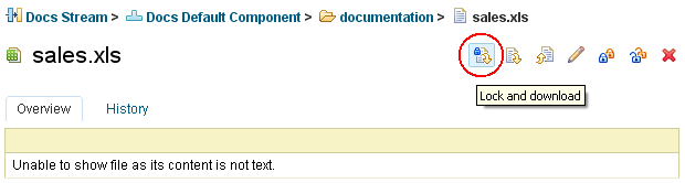 Link to a document shown in a web browser
