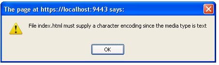 Prompt asking to set the encoding for the html file