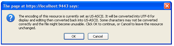 Prompt warning the user the text file is not UTF-8 encoded