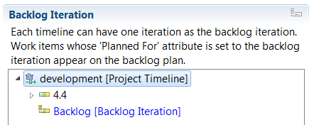 Marking on iteration as backlog iteration.