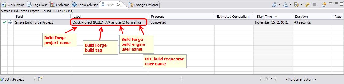 Build Forge Build Queue