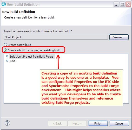 Create Build Definition Dialog