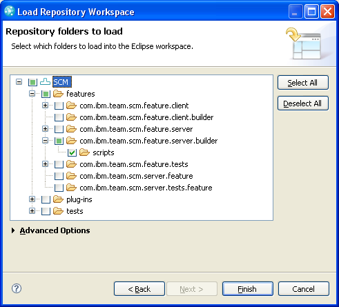 Folder          Selection Page of Load Wizard
