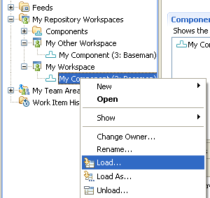 Select Load          on Component