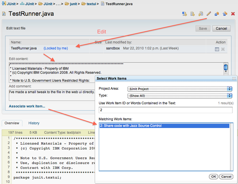 Jazz Source Control Web UI