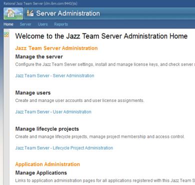 Administration UI