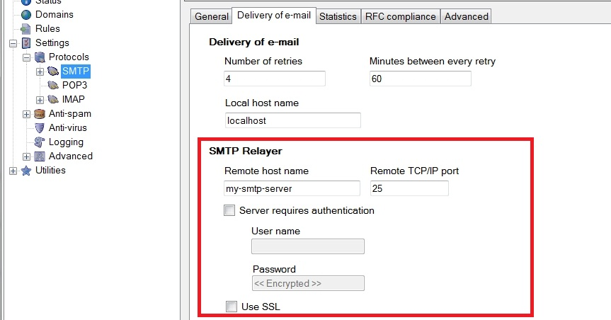 what does smtp relay mean