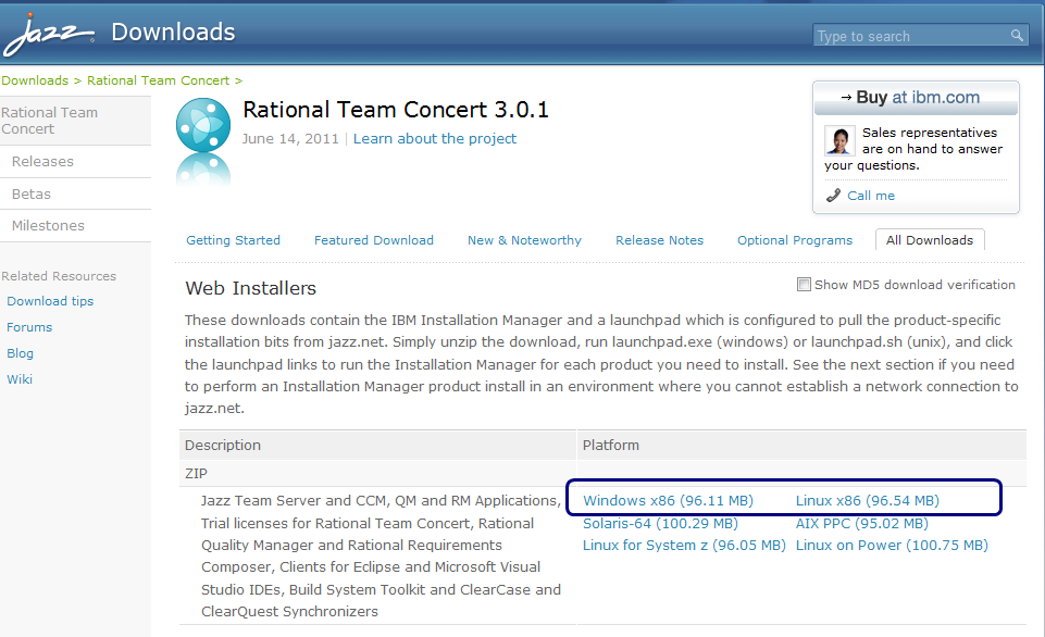 Install the Rational Team Concert client for Eclipse 3 0 1 into an