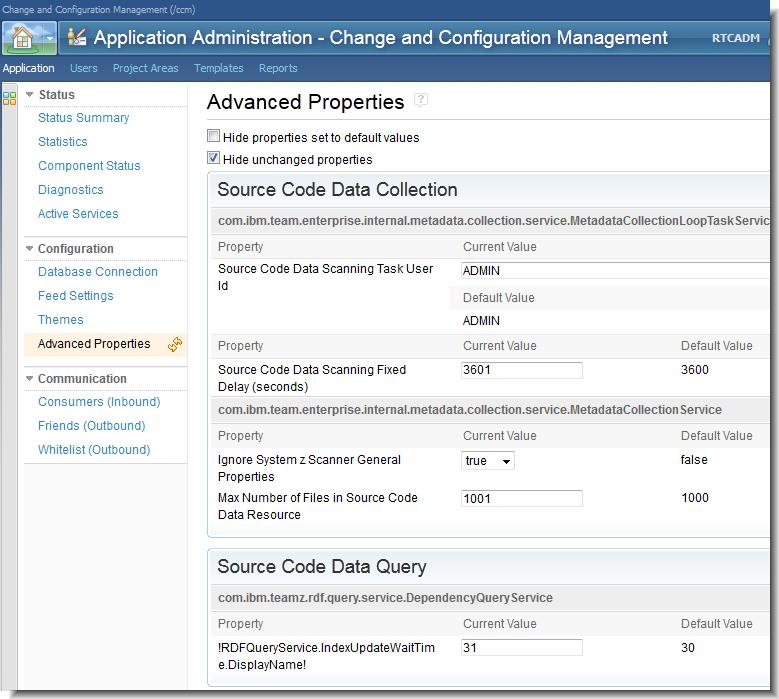 Source code data configuration