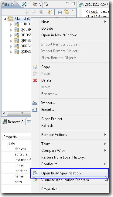 Open editor with context sensitive action