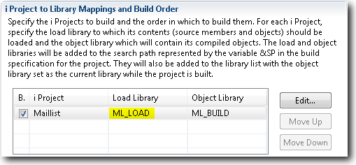 Specify a load library