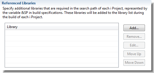 Specify additional libraries