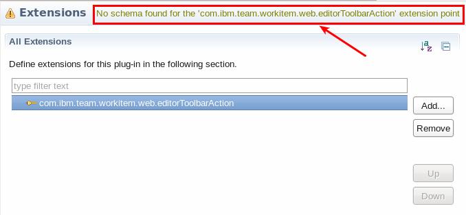 No Schema for Extension