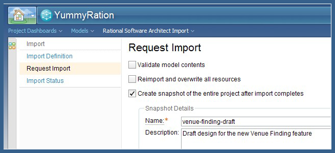 Import request for the Venue Finding design