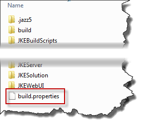 A file named build.properties is expected in the build output folder