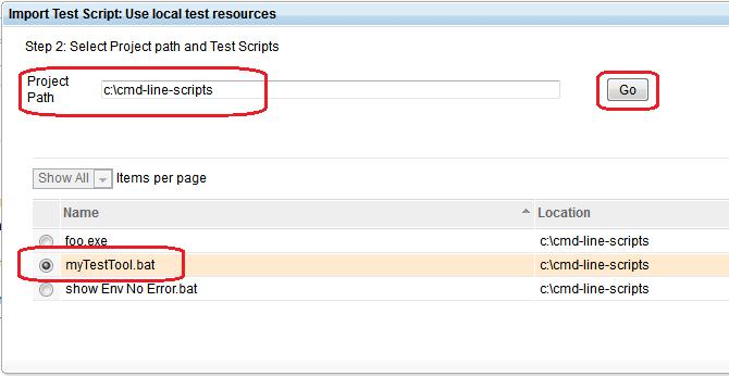 Import Test Script