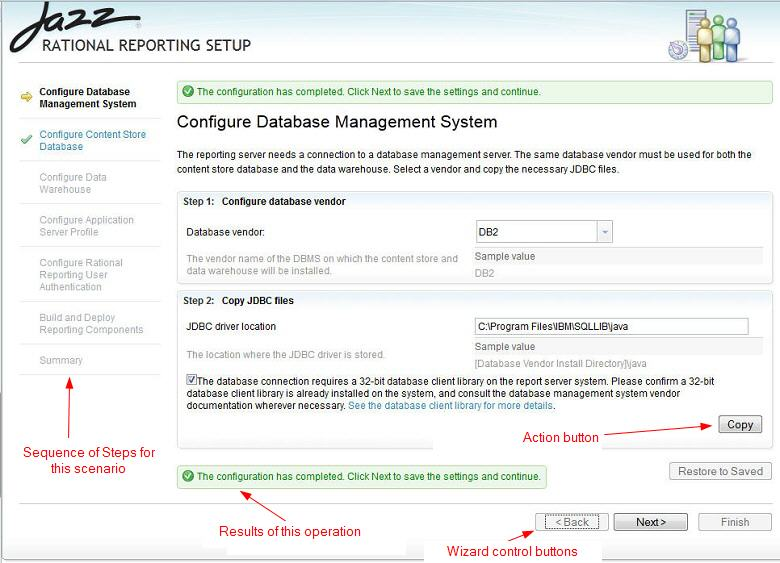 Setup Configure Database Management System page
