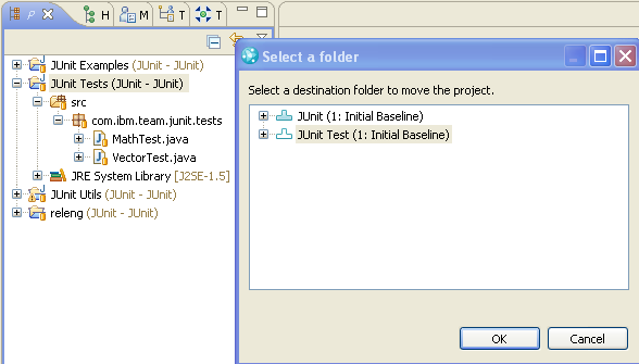 Move in Repository dialog