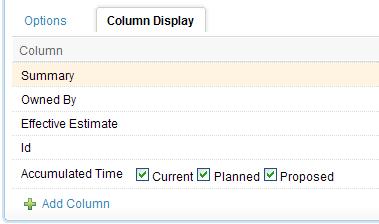 Accumulated Time Column