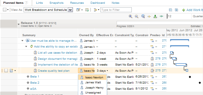 Assign Resource to Task