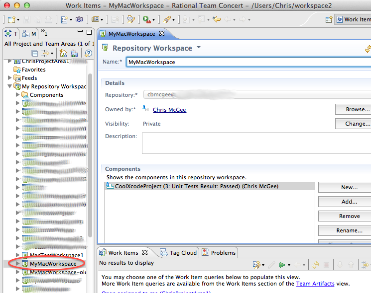Workspace editor