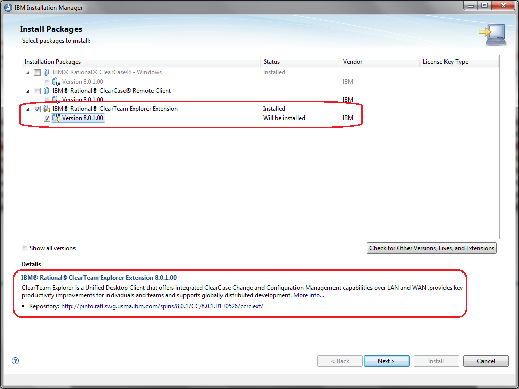 Tip: Installing the ClearTeam Explorer to Rational Team