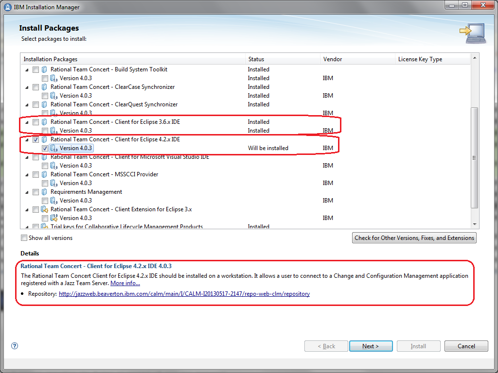 Tip installing the clearteam explorer to rational team concert install rtc wizard baditri Gallery