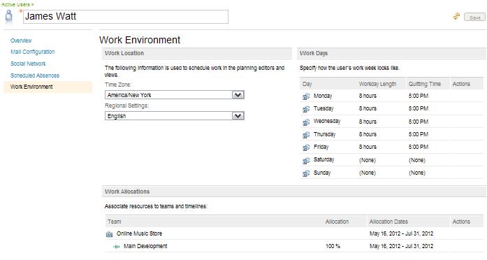Resource Allocation in User Editor