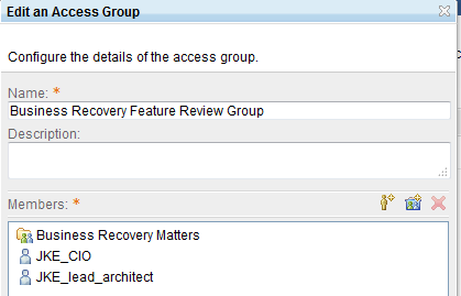 Sample Access Group
