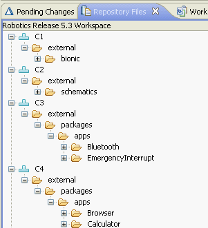 Repository          workspace structure