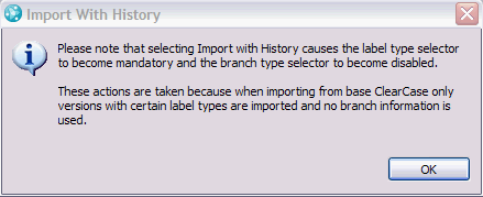 Import Wizard Page 1 Informative Dialog