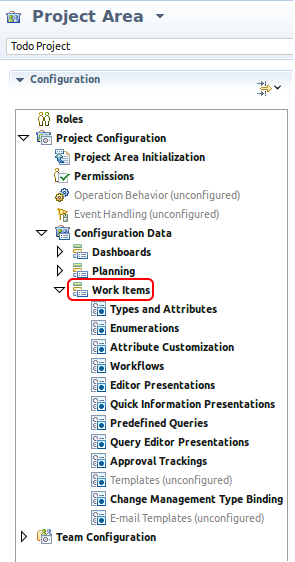 Customizations offered in the Eclipse UI