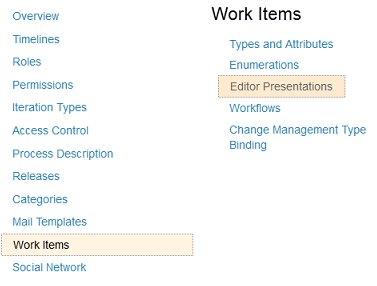 Project Admin UI in the Web Client