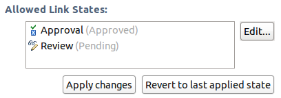 Allows linking to pending Reviews and approved Approvals
