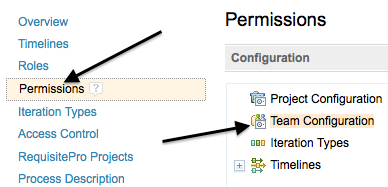 Team permissions