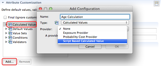Create a script-based calculated value provider