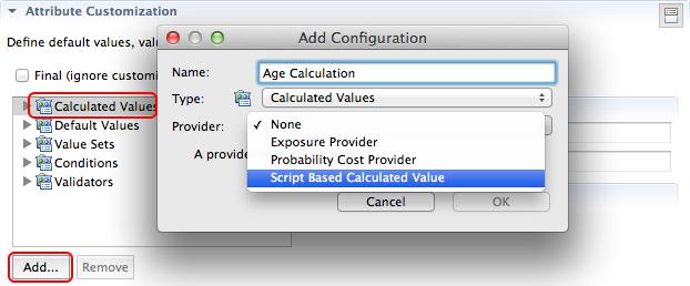 Create a script-based calculated value provider