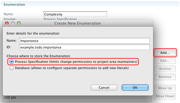 Creating the Importance enumeration