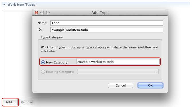 Create a new work item type Todo