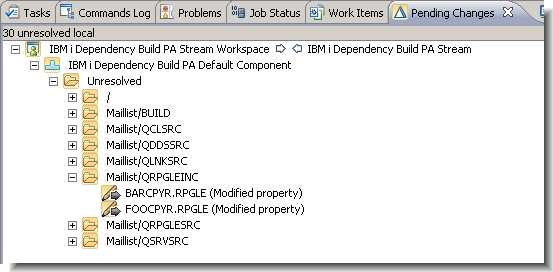 The new IBM i Dependency Build template in Rational Team